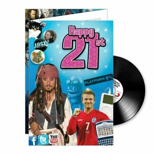 21st Birthday gifts; Music CD and Greeting Card in one.