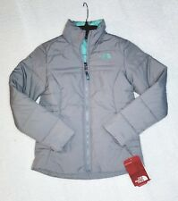 Brand NEW!! Girls 100% Authentic THE NORTH FACE Harway Jacket METALLIC SILVER M
