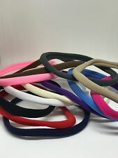 12 Different Colour Nylon Band Elastic For Headbands Band Craft Soft Hairband