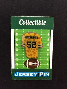Green Bay Packers Clay Matthews jersey lapel pin-#1 Collectible Cheesehead