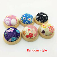1x Wood Base Needle Pin Cushion Pillow Sharpen Small Sewing Craft Needlework
