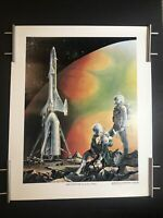 1960's PAUL ROSSI SPACE SHIP Poster Mars Expedition RARE Early NASA Vintage RARE