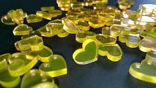 100 Streudeko Plexi Herz Tischdeko Hochzeit Dekoherzen Streuteile MINI Herz gelb
