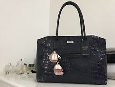 LARGE OSPREY LONDON ASPEN TOTE BAG NAVY BNWT 100% REAL LEATHER RRP £225.00