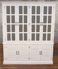 Buffet and Hutch Sideboard Dresser French Provincial White 180cms