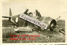 Frankreich , abgeschossenes Flugzeug Bloch mit Kennung