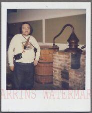 Vintage SX70 Polaroid Photo Moonshine Still Life & Nerd Man w/ Camera 731465