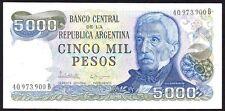 1976-83 ND ARGENTINA 5000 PESOS BANKNOTE * 40.973.900 B * aUNC *