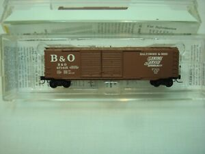 Micro Trains Z Scale Baltimore and Ohio 50ft Double Door Boxcar
