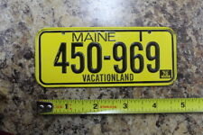 Vintage 1970 MAINE Post Cereal Miniature Bike State License Plate 450-969
