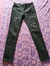 Ladies NEXT black patterned Skinny Jeans Size 8
