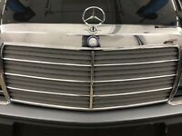 Mercedes W124 W116 W126 W140 - Kühlergrill Zierstäbe Zierleisten Chromleisten