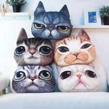 3D Soft Plush Funny Cat Dog Face Fleece Throw Pillow Cushion Cover Decor Inner
