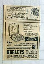 1960 Gloria Howard Haircare Westow Hill Crystal Palace Hurleys Balham Typewriter