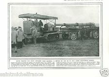 Motor Traction Artillery Thessaloniki British Army / Navy WWI 14 18 PLANCHE 1916