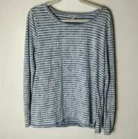 Lucky Brand Lucky Lotus Women's Top Size Large Casual Long Sleeves Cotton Blend