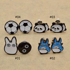 Cute Cartoon Totoro Ear Stud Earrings Cosplay Kawai Panda Football Ear Jewelry