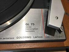Vintage  Goldring Lenco  Transcription GL 75 /P turntable Deluxe