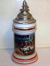 1991 BUDWEISER  AFTER THE HUNT LIDDED STEIN - WITH CERTIFICATE - NO BOX