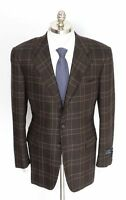 New STEFANO RICCI Italy Brown 100% Cashmere Coat Jacket 52 42 42R NWT