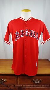 BRAND NEW Majestic Angels Cooperstown Coolbase jersey Men's Shirt