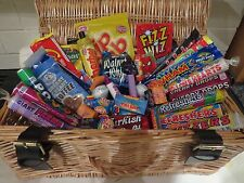 Retro sweets hamper - old school sweets, dip dab, caramac, sherbet fountain,wham
