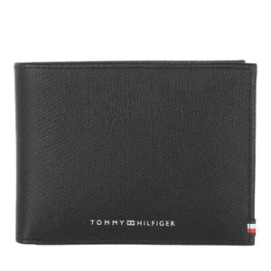 Tommy Hilfiger TH Business Leather credit card Coin pocket wallet Textured black