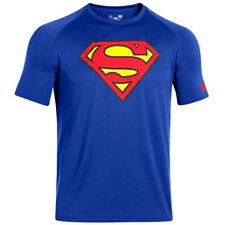 Camiseta de deporte de hombre azul de poliéster