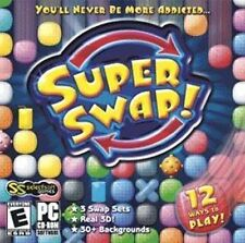 SUPER SWAP   Arcade action meets puzzle strategy  Win 8 7 Vista XP  Brand New