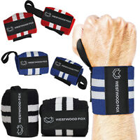 WFX Weight Lifting gloves Wrist Wraps Bandage Hand Grip Support Gym Straps Brace