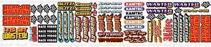 Rc Banger 1/12 Filler Sheet Stickers Mardave Kamtec Decal Banger Stock Car