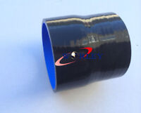 70-76mm Silicone Straight Hose 2.75 to 3 inch Reducer Turbo Coupler Pipe BLACK