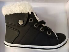 Kids Winter Black Hi Top Fur Lined Boots £7.99 Free Postage