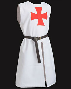 Medieval Armor Templar Knight Tunic Reenactment Tunic LARP Tunic SCA Surcoat