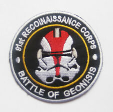 Red STAR WARS Clone Trooper Head Battle of Geonosis Patch Badge