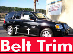 gmc ENVOY CHROME SIDE BELT TRIM DOOR MOLDING 02 03 04 05 06 07 08 2009