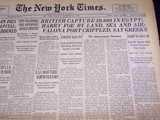 1940 DECEMBER 13 NEW YORK TIMES - BRITISH CAPTURE 20,000 IN EGYPT - NT 2748