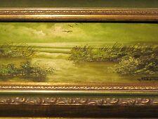 Manuel Toapantor oil painting green marsh ocean landscape Latin artist