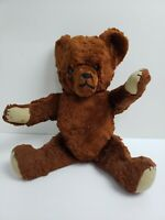 Creepy Scary Sad Distressed Poseable Vintage Teddy Bear Plush Jointed Evil  b1