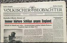 Genuine September 23 1941 Volkischer Beobachter Nazi Germany Newspaper
