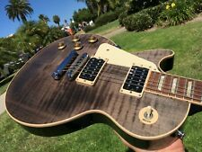 Gibson Les Paul Signature T Flamed Trans Black Lefty Left Handed Standard Neck