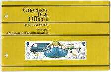Confezione di presentazione Guernsey Gomma integra, non linguellato 1988 Europa: trasporti & communication
