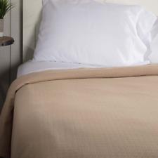 SERENITY Tan King Cotton Woven Blanket/Coverlet Farmhouse Bedding VHC Brands