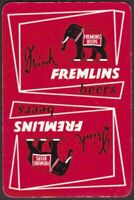 Playing Cards 1 Single Card Old FREMLINS Brewery BEER Advertising Art ELEPHANT A