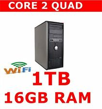 813ca98cbd1261 Dell 780 Ordinateur PC Core 2 Quad 16 Go RAM 1 To Windows 10 ou 7 WiFi Ready