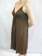 Scanlan & Theodore Size 8 Brown Silk Slip Evening Dress