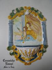 Acquasantiera Madonna ceramica PEZZO UNICO - pottery holy water + OMAGGIO
