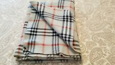 "Blanket Vintage Throw Fleece Grey with Black, Red, Windowpane 42"" x 58"" FLAW"