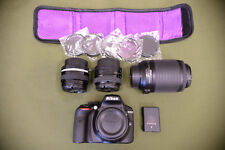 Nikon 24.2MP D3300 Digital SLR Camera Body 3 Lenses & Filters Kit Bundle