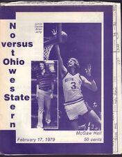 Northwestern vs. Ohio State Basketball Program 1979 Brian Jung 071717nonjhe